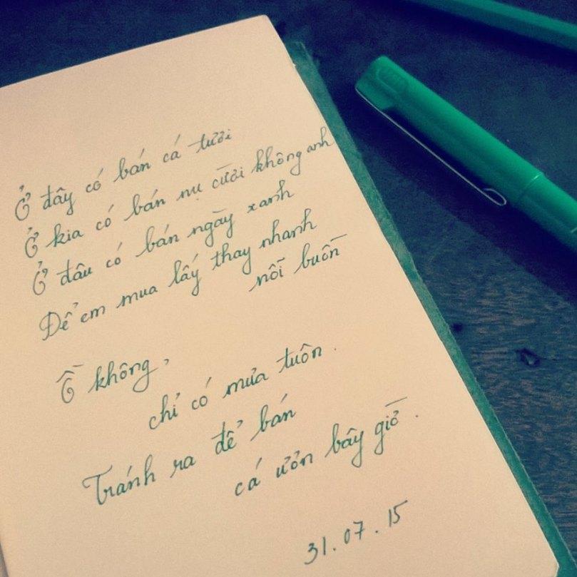 một bài thơ có màu xanh lá